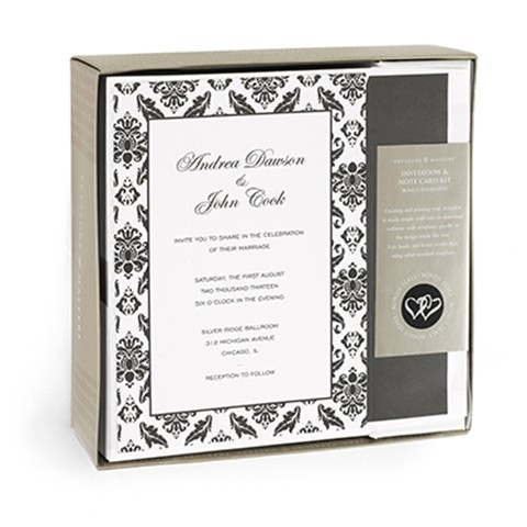 damask border invitation kit wedding party favors and supplies