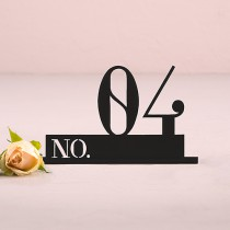Black Acrylic Table Number Double Digit Style