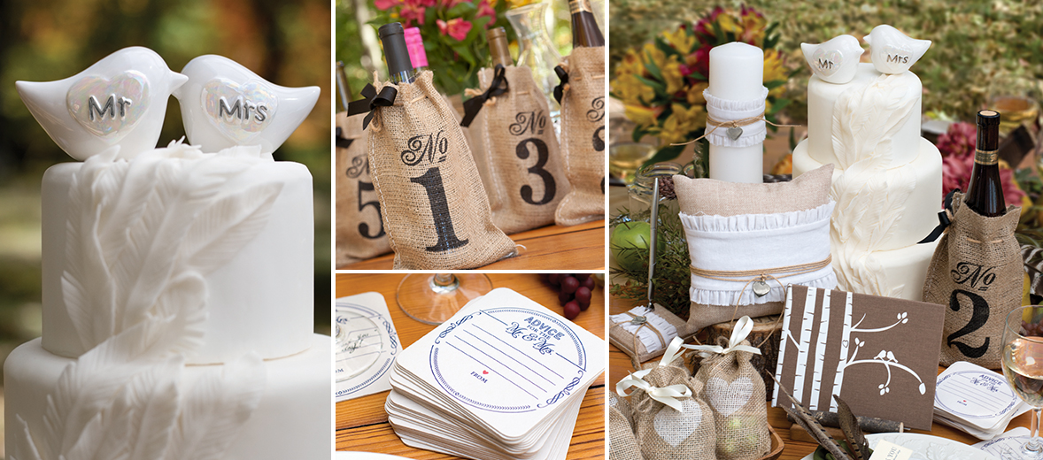 Rustic Love Birds Wedding Collection